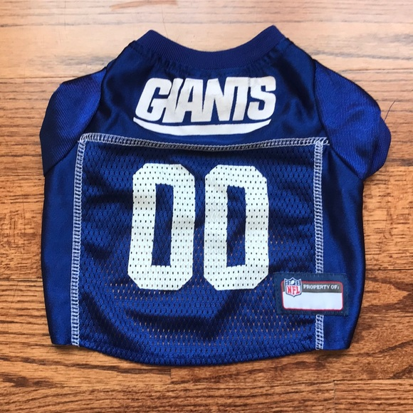new arrival 3f8d5 1d13b NY Giants Pet Wear - Small Dog Jersey Shirt NWT